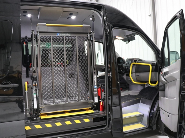 Mercedes Sprinter WAV Commercial Wheelchair Van with side lift for wheelchairs