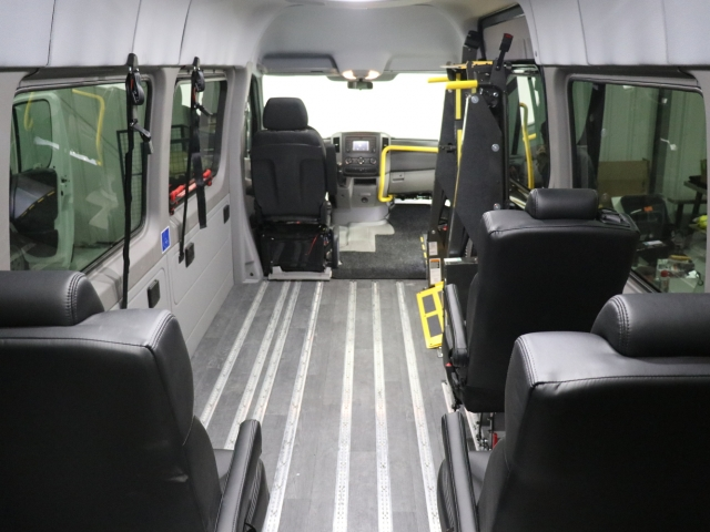 Mercedes Sprinter Commercial Van Seating and Wheelchair Transport