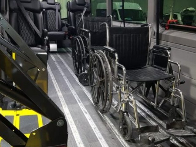 Wheelchair Accessible Mercedes Sprinter Van for senior living transport