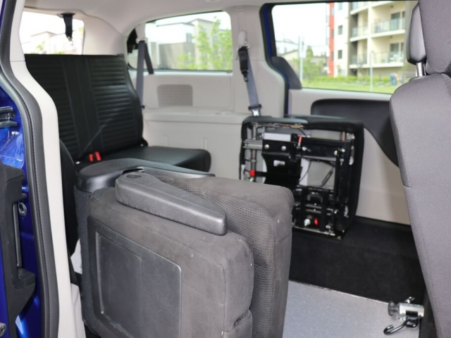 Commercial Rear Entry Dodge Grand Caravan with Flip & Fold Seats and Third Row Bench